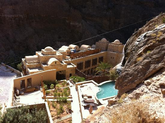 Ma'In Hot Springs: spa from above