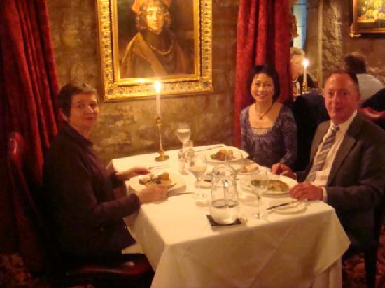 Langley Castle Restaurant: The three of us in the restaurant