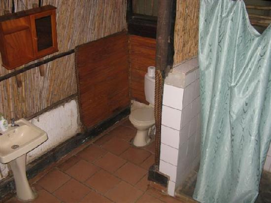 Marc's Treehouse Lodge: The basic bathroom