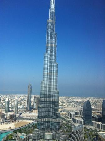 Burj khalifa the view from my room picture of the for Burj dubai hotel room rates