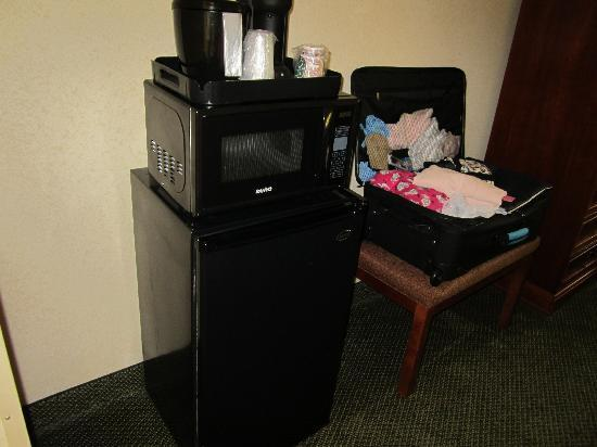 Holiday Inn Express Cambridge: Microwave and Fridge