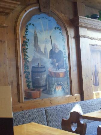 Barfüsser die Hausbrauerei Ulm: Albert Einstein Mural on wall of the Barfusser die Hausbrauerie