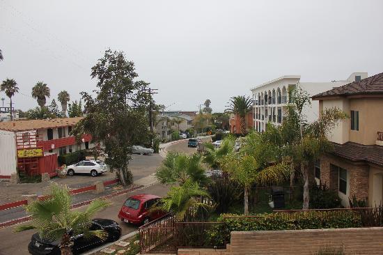La Jolla Beach Travelodge: Blick von unserem Zimmer Richtung Meer
