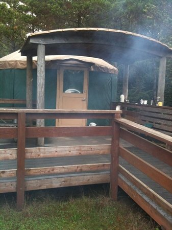 South Beach State Park: our little yurt
