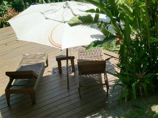 Pousada Tagomago Beach Lodge : Schöne Terasse