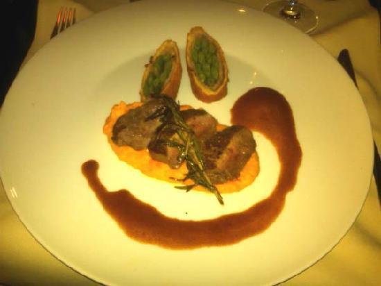 Hotel Ratsstuben: Lamb on Pumkin Risoto.  Yum!