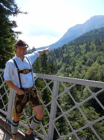 Like Us Tours: Peter pointing to Austria