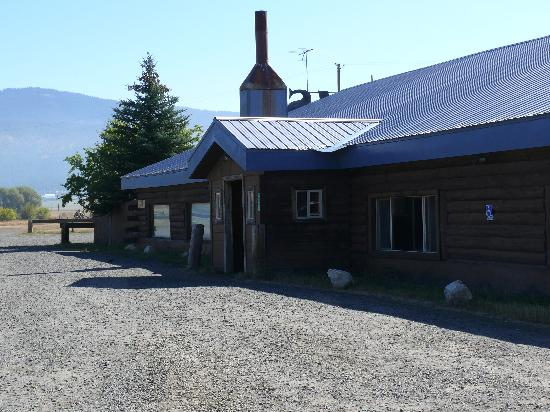 Zims Hot Springs: exterior - RV and tent sites in distance