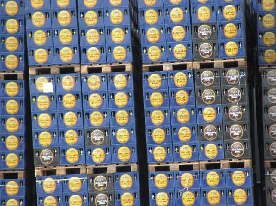 Konig Ludwig Schlossbrauerei: lots of crates