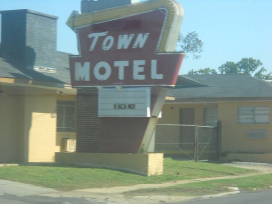 Town Motel: Closeup Of Vintage Sign