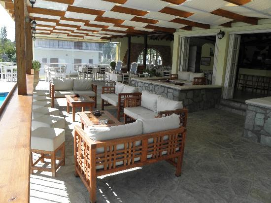 Troulos, Greece: the bar area