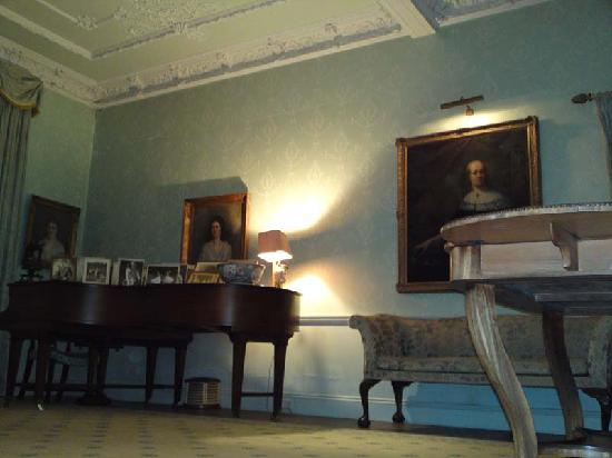 Loughbrow House: The Drawing Room: Piano, Paintings and Canapé