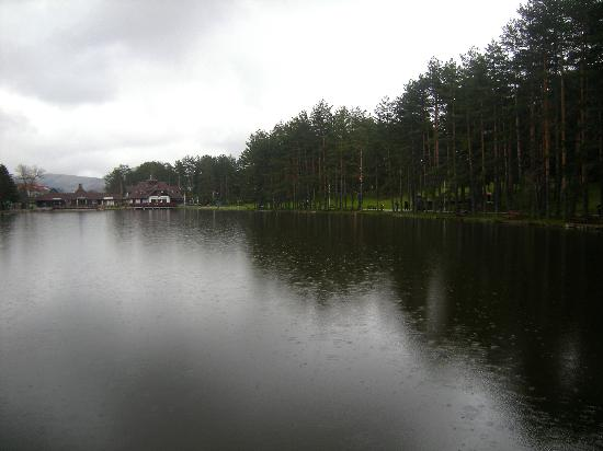 Zlatibor, Serbia: Lake and rain