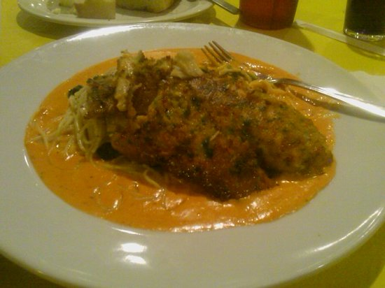 Sweet Bella Italian Kitchen: Chalkboard Special Crusted Talapia in Roasted Red Pepper Sauce