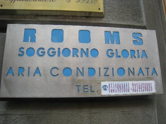Soggiorno Gloria: Hotel sign