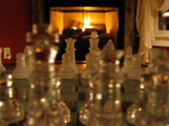 Bishop Farm Bed and Breakfast: Chess by the fire place