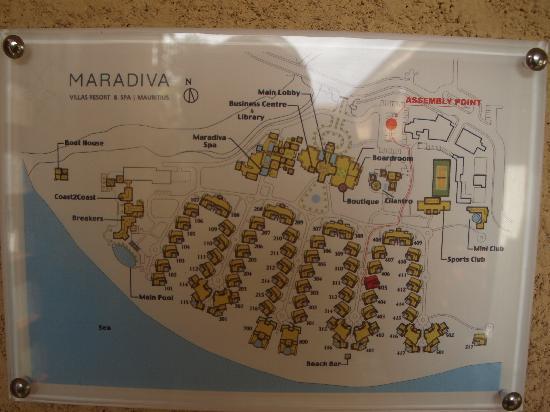 Maradiva Villas Resort and Spa: Resort plan