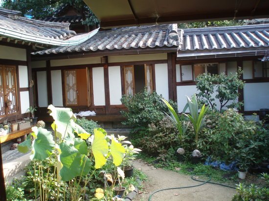 Seoul Guest House: View from the courtyard to the room