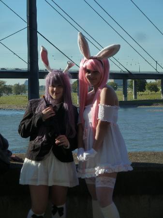 Rheinuferpromenade : Kostümshow der Jungend beim Japanfest