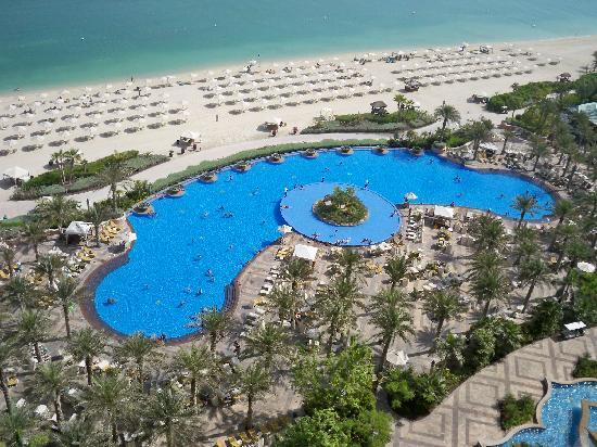 view of the swimming pool from our room picture of atlantis the palm dubai tripadvisor
