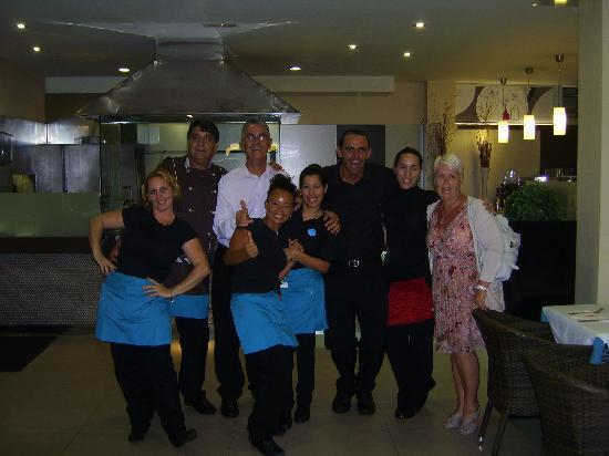 Grill La Brasa: the most hard working +friendly Staff in Lanzarote (La Brasa Tias) will even teach you some  spa
