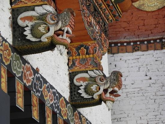 Punakha Dzong: The intense colors