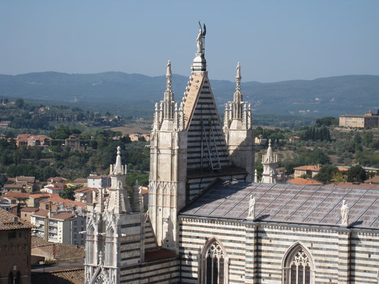 Maurizio Bellini Educational Tours : View of the Cathedral of Siena from the Cathedral museum.