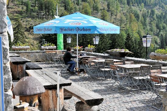 Albert Link Hütte: Terrasse
