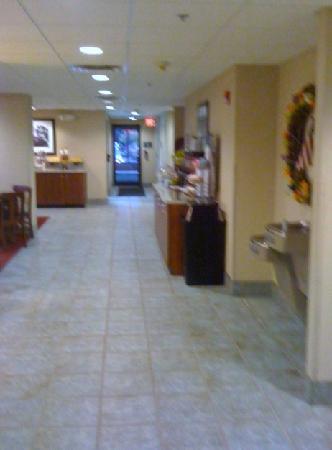 Hampton Inn Hillsville: breakfast area