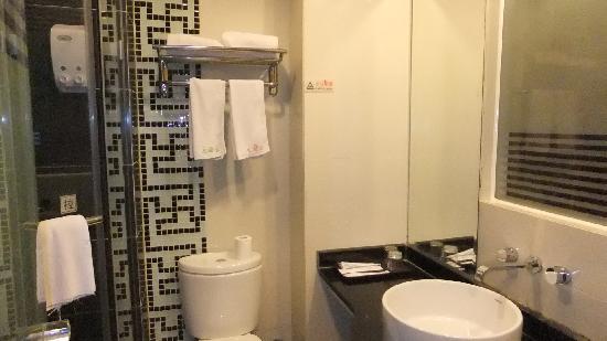 Jiujiu Impression Theme Hotel: バスルーム