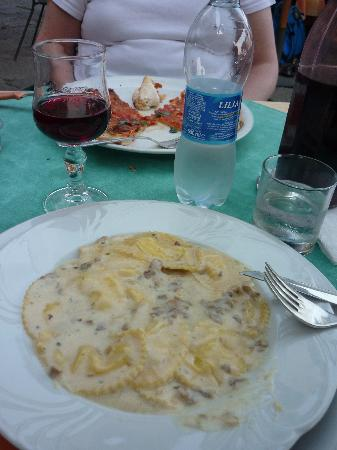 Cafe Europa: home made mushroom ravioli - YUM!