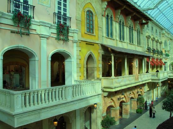 Mercato Shopping Mall: particolare delle architetture veneziane