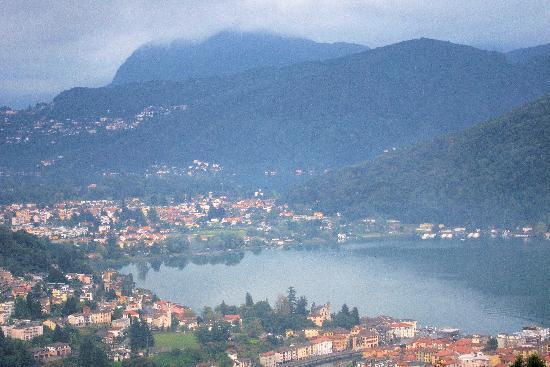 Albergo Ristorante Stampa: Uitzicht vanaf terras