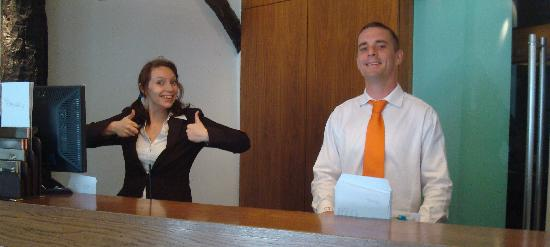 ABode Canterbury: Nick from Housekeeping and a lovely front desk staffer