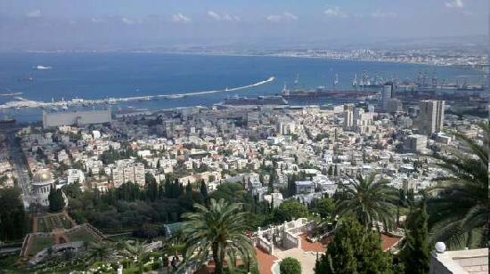 Haifa port view