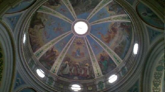Haifa, Israel: Stella Maris church roof painting
