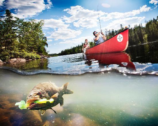 Voyageur Canoe Outfitters: Here fishy, fishy!