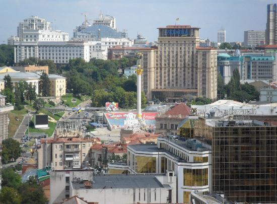 Oselya Kiev: Kiev Centre from church tower