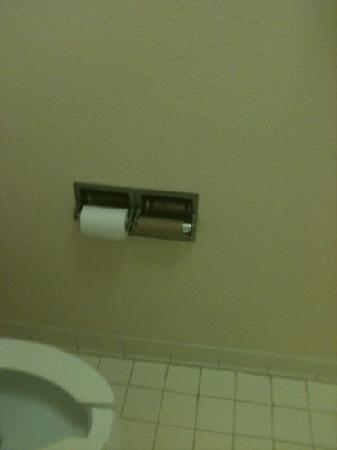 Henderson, NC: half roll of toilet tissue