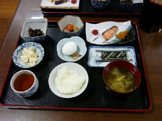 Senjuso: 朝食。卵は温泉卵