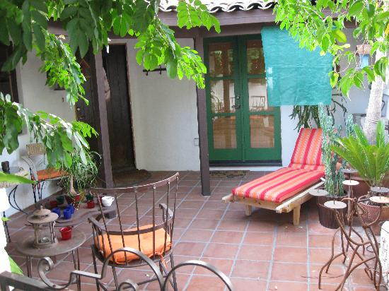 Casa Ocotillo: The patio in front of my room.