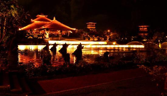 Ayodya Resort Bali: The Ayodya Resort's Facade - at Night