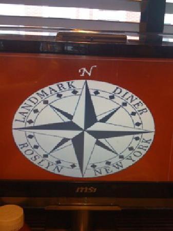Landmark Diner: the logo