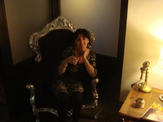 """""""Her Majesty"""" on the throne"""