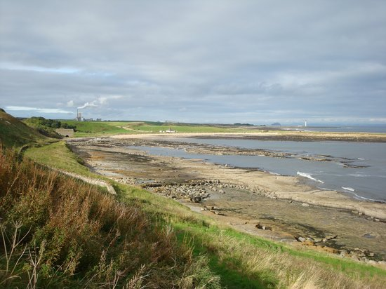Восточный Лотиан, UK: John Muir Way between Dunbar and Cockburnspath