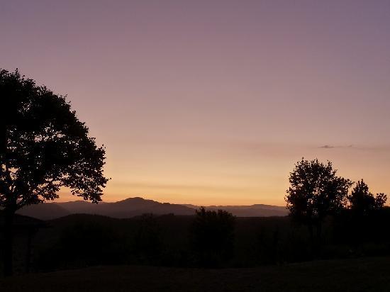 La Cuccagna: Coucher de soleil depuis la Staletta
