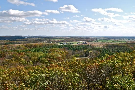 Kettle Moraine State Forest: View from Parnell Tower (mid-October)