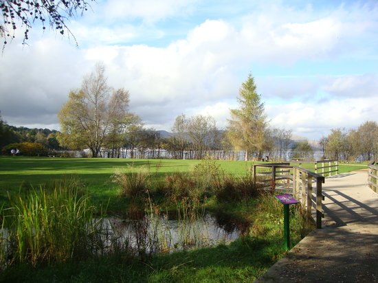 Loch Lomond Shores: Pick-nick area and Loch view