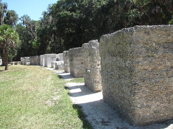 Kingsley Plantation: view of one side of slave row