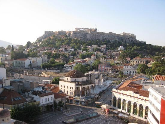 A for Athens: Daytime view from hotel's rooftop bar